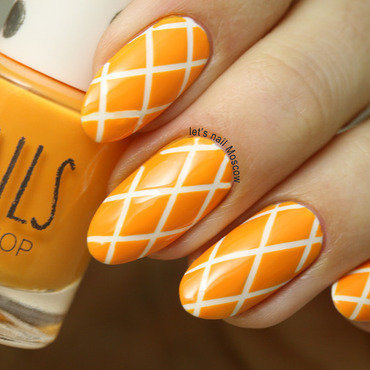 31dnc orange nails bright orange tangerine crossed cropped checkered striping       nails nailart beautiful nails         blogger nailblogger topshop nail polish beautyblogger 1 1 thumb370f
