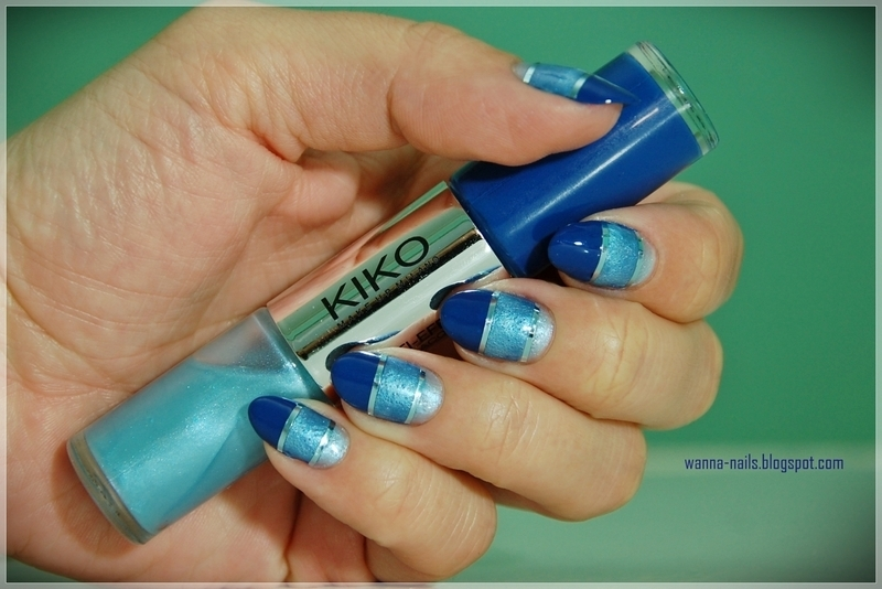 Ombre color block nail art by Oana Chiciu