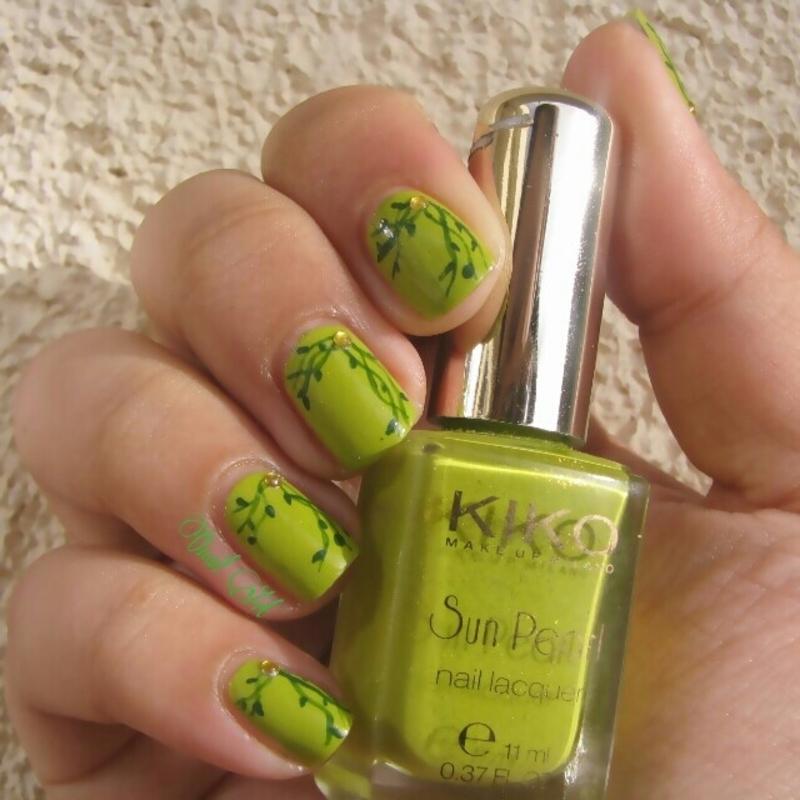 Vegetal Nails nail art by OnailArt