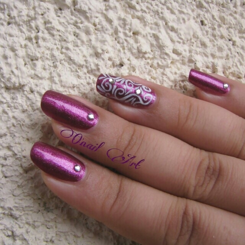 Arabesques nail art by OnailArt