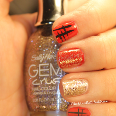 Nail art   red and black skittlette thumb370f