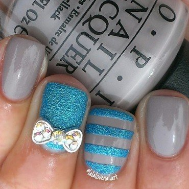 Bow-tiful nail art by Jessica Byles
