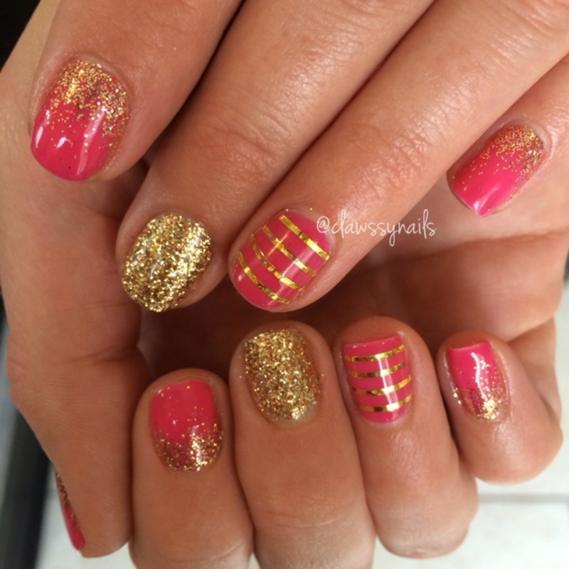 Stay Gold nail art by Jessica de Leon
