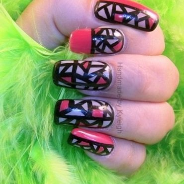 Broken Pieces nail art by  Kyleigh  'Handmade By Kyleigh'