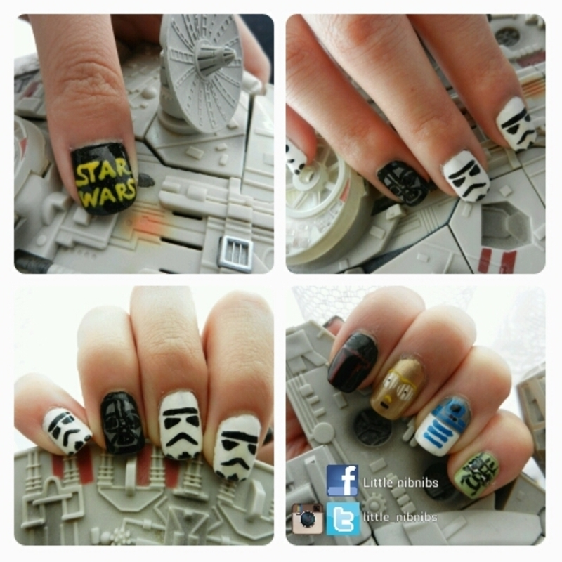 Star Wars nails nail art by Julie Nguyen