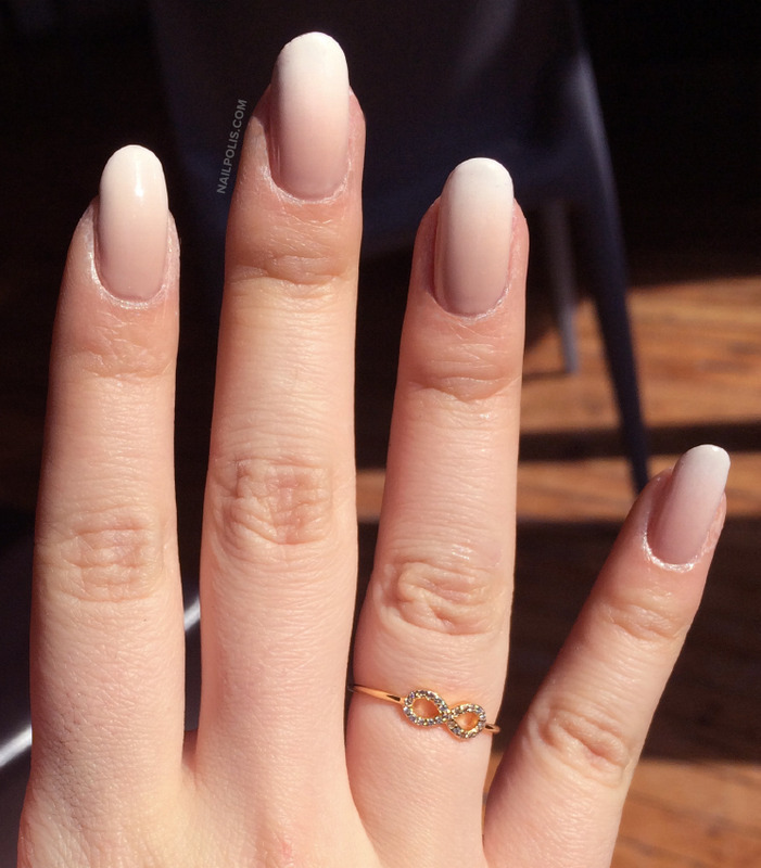 Gradient French Manicure nail art by Michelle