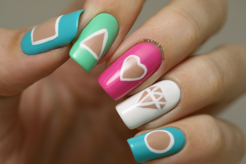 cut-out design nails :) nail art by Let's Nail Moscow