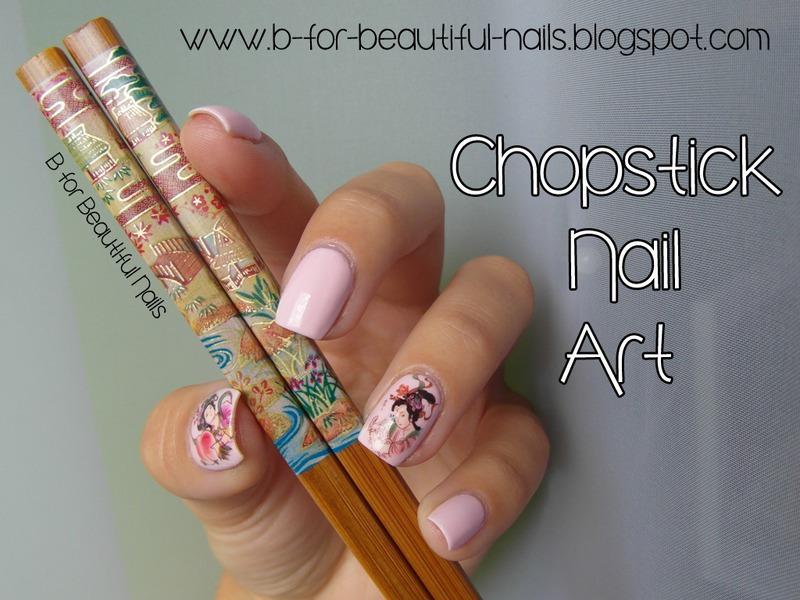 Chopstick Nail Art nail art by B.