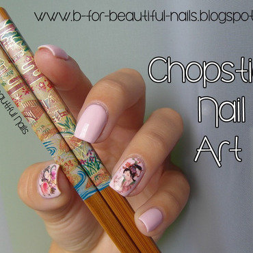 Chopstick Nail Art nail art by B.