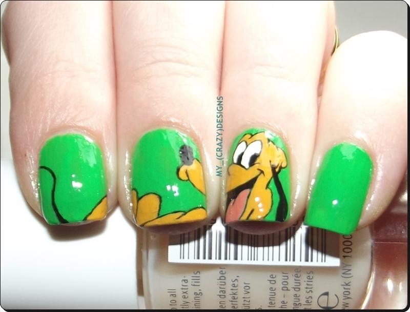 Pluto nails nail art by Mycrazydesigns - Nailpolis: Museum of Nail Art