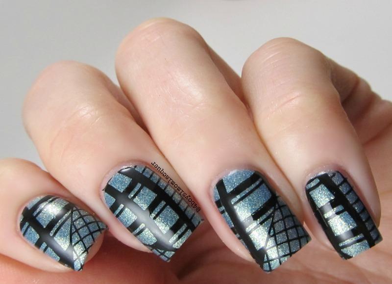 Blue Steel nail art by Jennifer Starnes