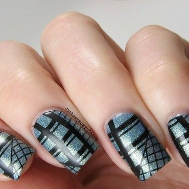 Blue Steel nail art by Jennifer Starnes