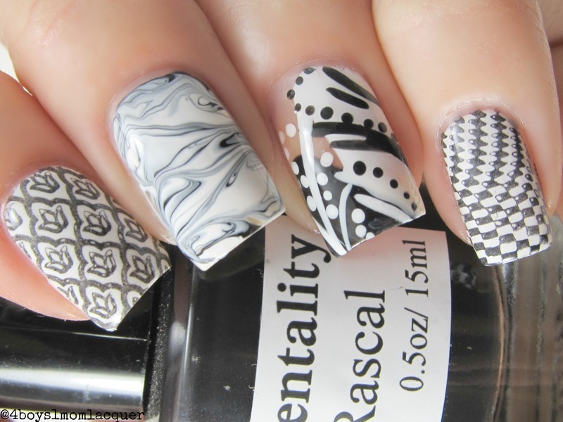 Black and White nail art by Jennifer Starnes