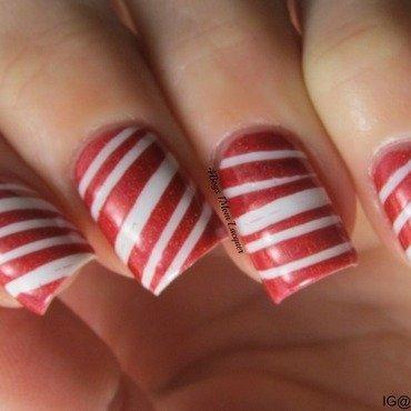 Candy Cane nail art by Jennifer Starnes