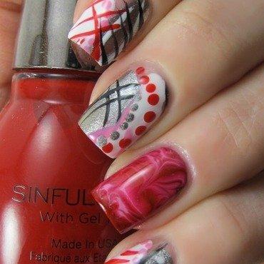 Free Handed Love nail art by Jennifer Starnes