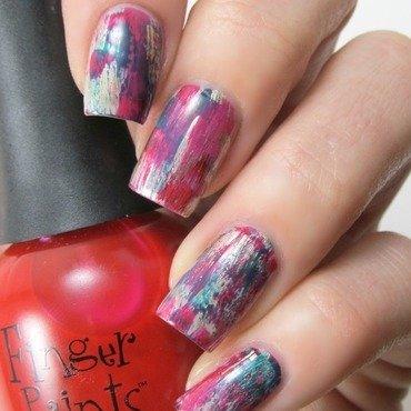 Distressed Solo nail art by Jennifer Starnes