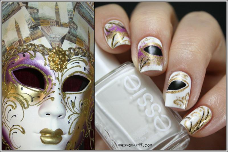 Carnaval nail art by Mary Monkett