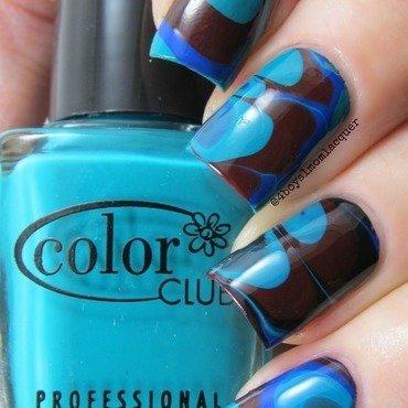 Got The Blues nail art by Jennifer Starnes