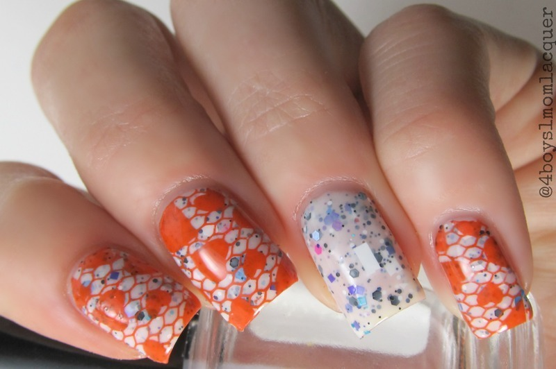 Lace and Hearts nail art by Jennifer Starnes