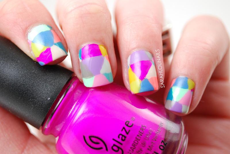 Triangle Nails! nail art by Sarah S