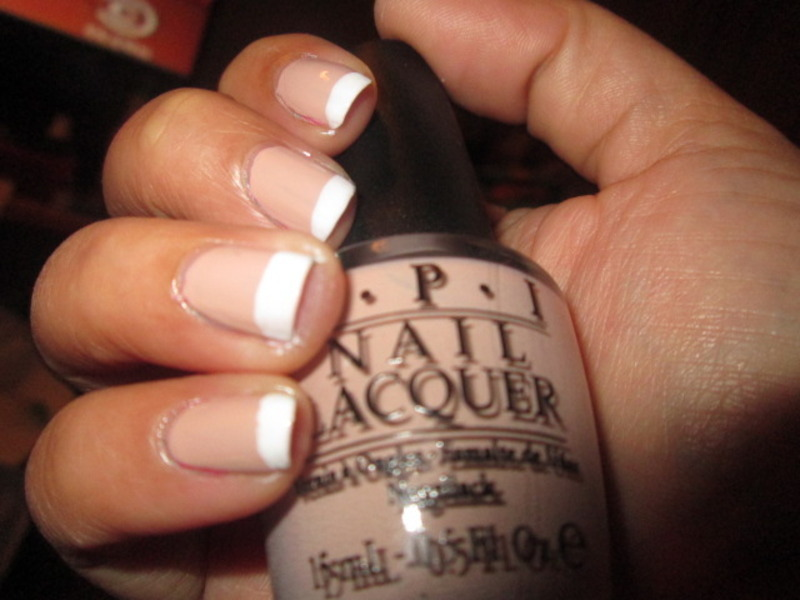 Nude French Mani nail art by Evy Rodrigues