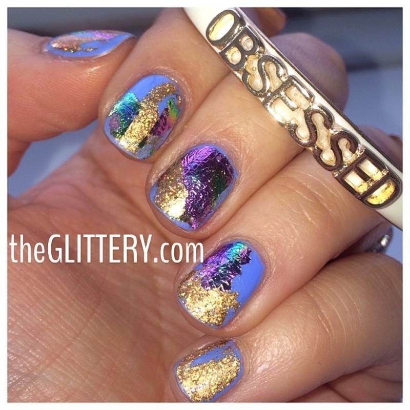OBSESSED with foil!  nail art by Ari  Fund