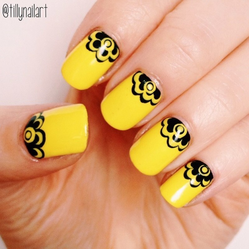 Yellow Crowned Nails nail art by Tilly  Hawkins