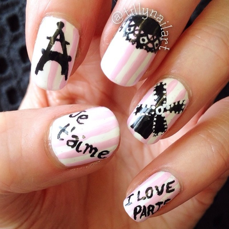 Paris Nails nail art by Tilly  Hawkins