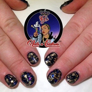 RUSSIAN NAVY AN nail art by G's Nails N' Creations