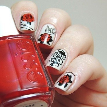 Born to be wild biker nails  3  thumb370f
