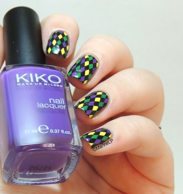 Mardi Gras ! nail art by Marine Loves Polish - Nailpolis: Museum of ...