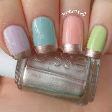 Candy Nails with Rosé Gold French Tips nail art by Ann-Kristin