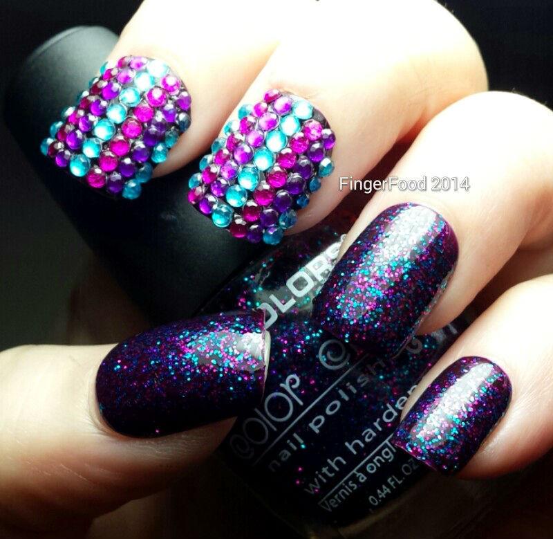 Glitter Bomb nail art by Sam