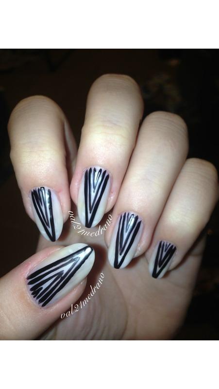 Super chic matte stilettos  nail art by Valerie