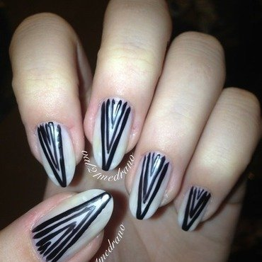 Super chic matte stilettos  nail art by Valerie
