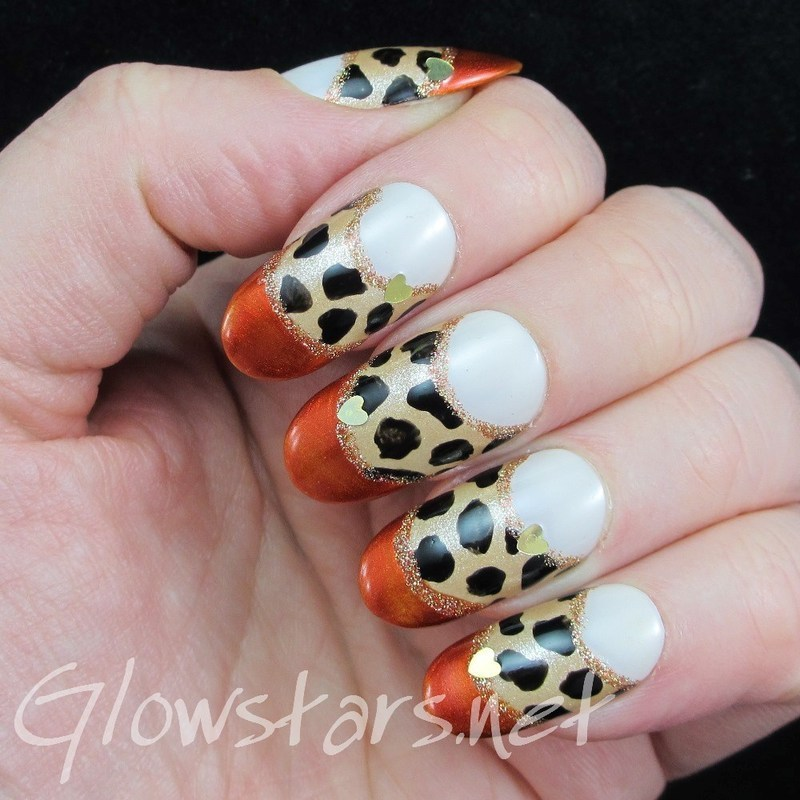 Come in my cave and I'll burn your heart away nail art by Vic 'Glowstars' Pires