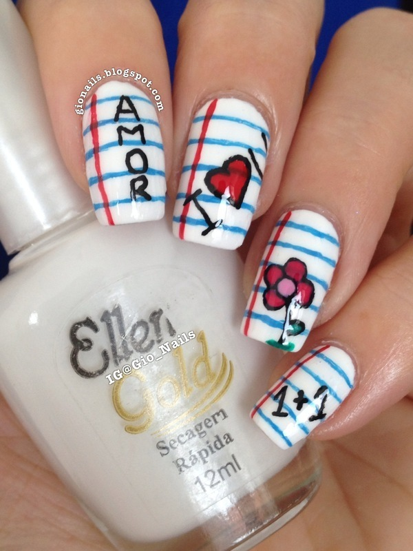 School Nails nail art by Giovanna - GioNails
