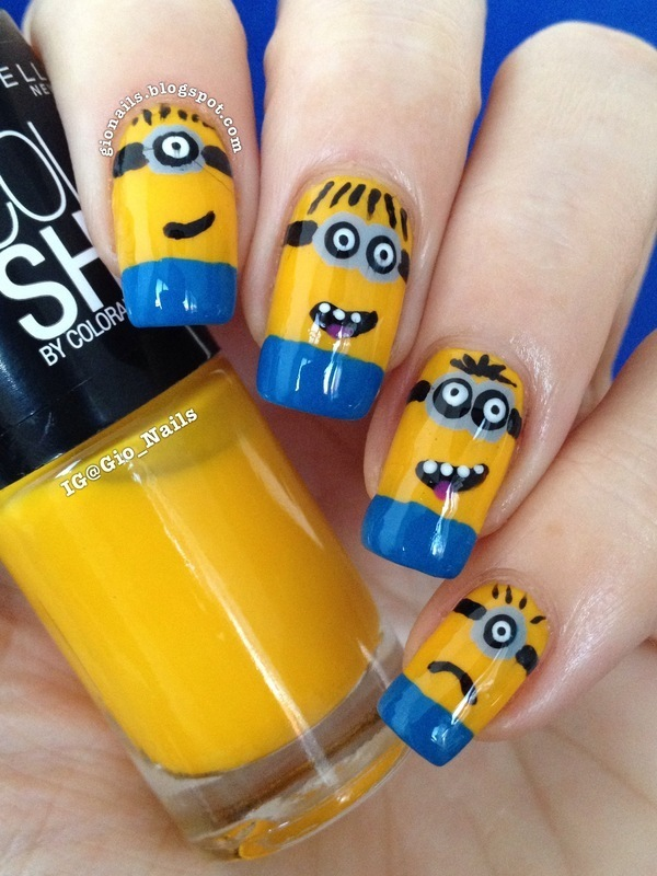 Minion Nails nail art by Giovanna - GioNails