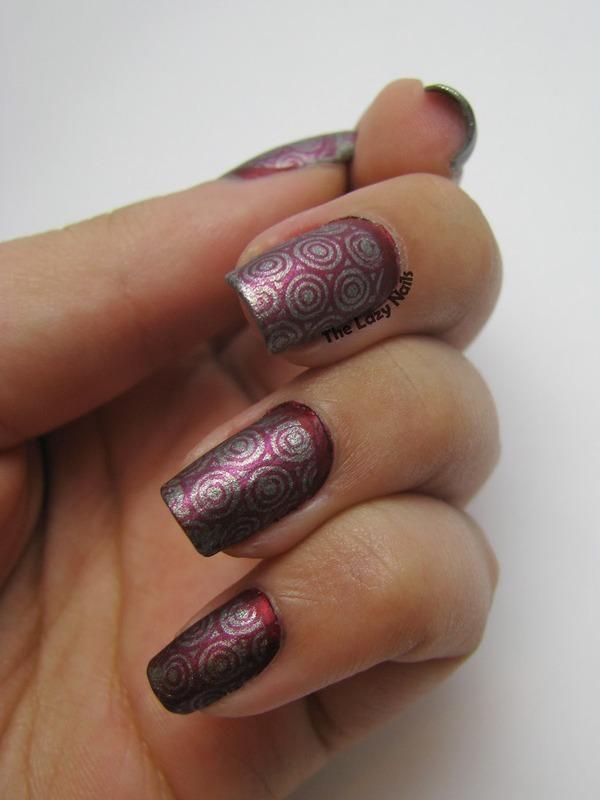 Bloody round ruffian nail art by Hadas Drukker