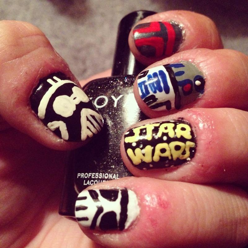 Starwars nail art by Megan Lagerson