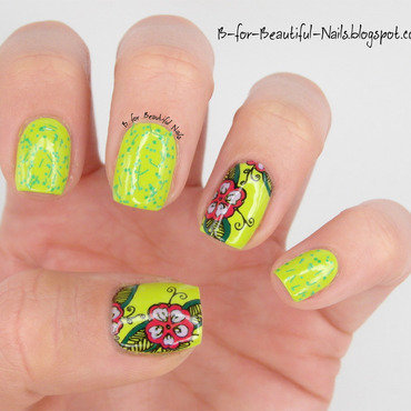 Spring is coming! nail art by B.