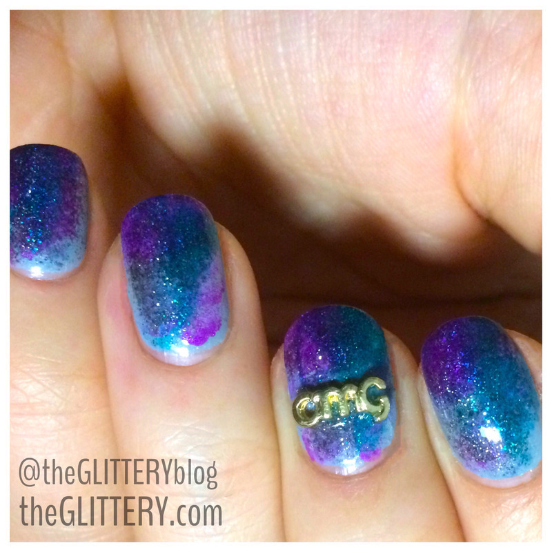 OMG intergalactic!  nail art by Ari  Fund