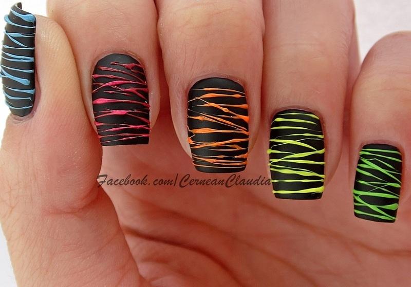 Spun Sugar Nails nail art by Claudia