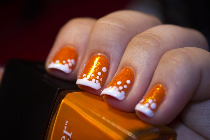 Shine Over Orange nail art by moon doggo