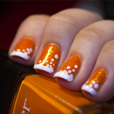 Shine Over Orange nail art by moon doggo