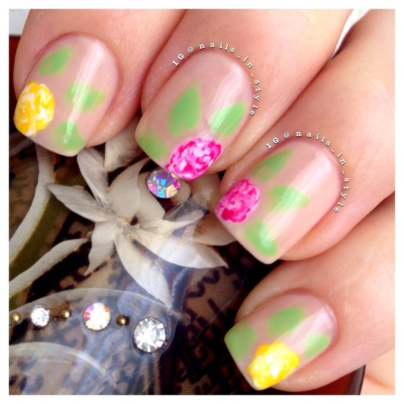 Spring Floral nail art by Nails_In_Style