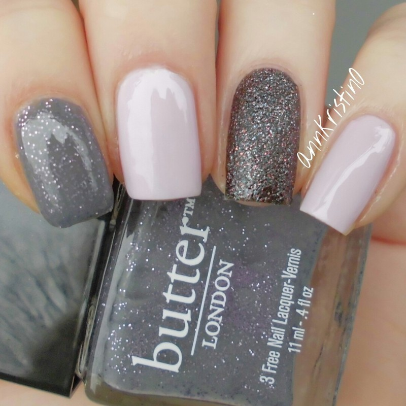 Mix And Match Grey And Pink Nail Art By Ann Kristin Nailpolis