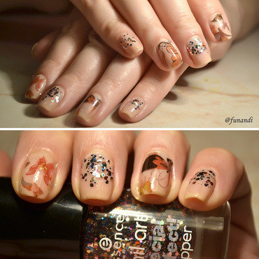 Butterfly nails nail art by Andrea  Manases