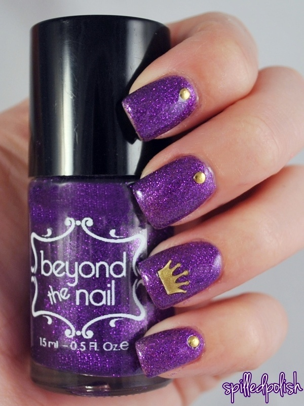 Purple Princess nail art by Maddy S