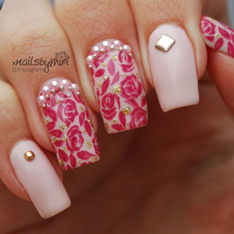 Princess Nail Art: Princess Nails Nail Art By XNailsByMiri